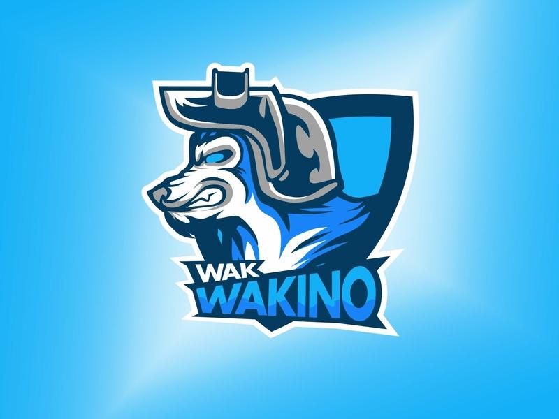 Wak Wakino wolf pubg games gaming mascot design design mascot logo mascot logo esports esportlogo esport