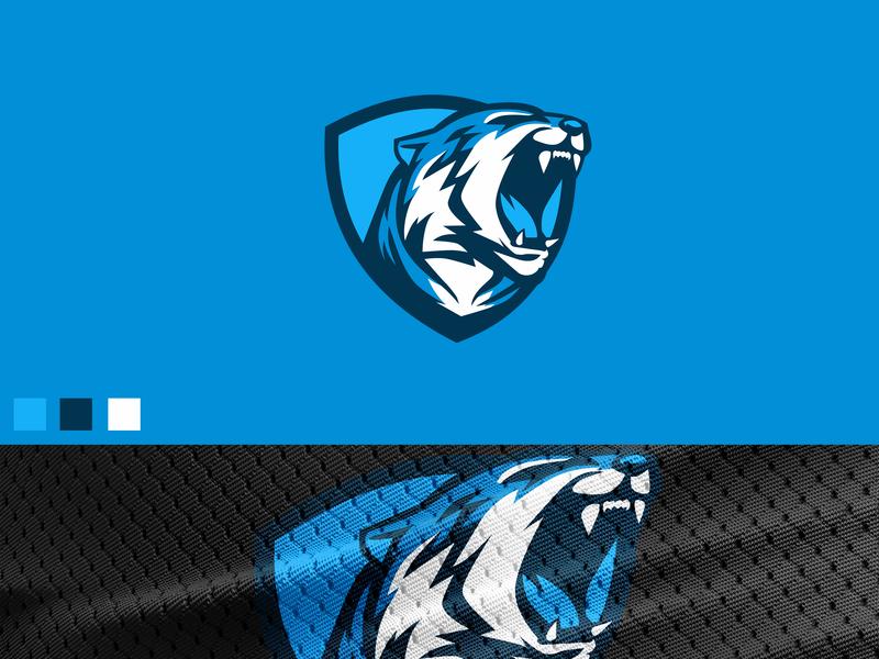 Blue tiger forsale badgedesign badge mascot artwork identity branding graphic vector pantera tiger esportlogo esport design logo