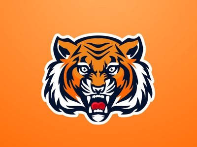 Tiger tiger forsale branding vector badgedesign mascot char graphic artwork illustration brand identity design logo