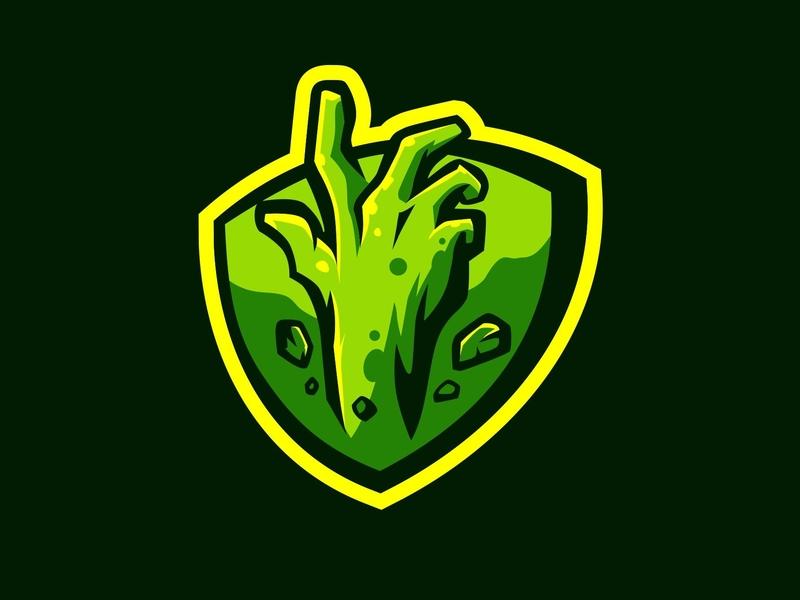 Zombie Hand branding forsale badge logo cartoon badge esport char mascot graphic artwork illustration vector identity design gaming logo gaminglogo gaming hand zombie