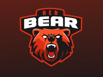 Red Bear sport logo