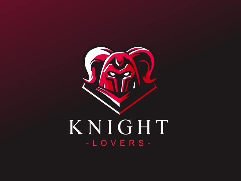 Knight lovers head forsale illustration badgedesign vector branding esport char mascot graphic brand identity design logo knights knight