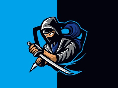 Ninja assassin ninja dailylogo badge logo badgedesign vector badge esport char mascot graphic illustration forsale brand identity design logo