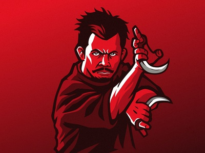Cecep Arif rahman silat illustration vector char artwork graphic design logo