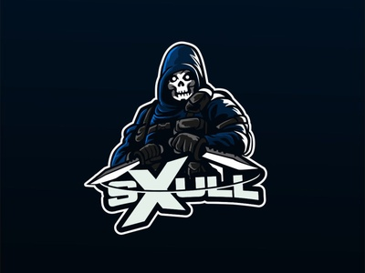 sxull logodesign skull char mascot esportlogo esport vector graphic logo