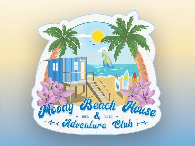 Moody Beach House Adventure club beach stickers