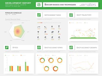 Soccer Development report chart piechart statistics infogrpah soccer