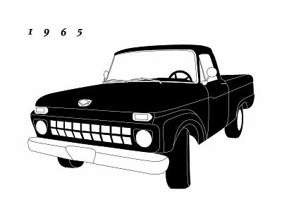 1965 Ford 1965 truck illustration
