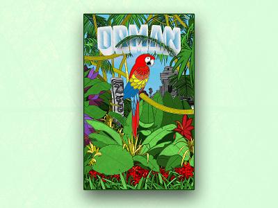 Dribble Orman design typography illustration