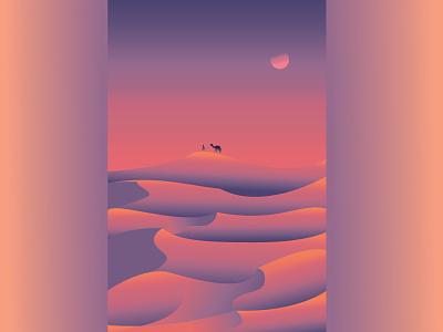 Desert Sunset surrealism