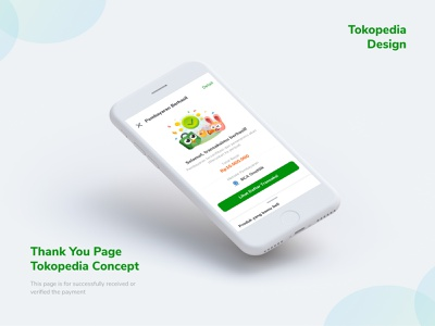 Thank You Page Concept Tokopedia ux design illustration product design