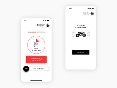 A sensor alarm app for bikers