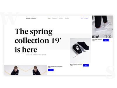 E-commerce website for sneakers
