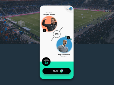 Mobile football game with a prize pool!