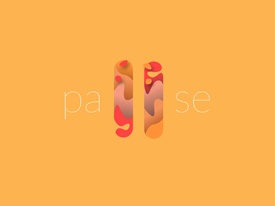 PAUSE. music logo ui flat pause