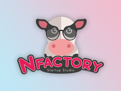Nfactory Cow cow normandie france design flat logo startup
