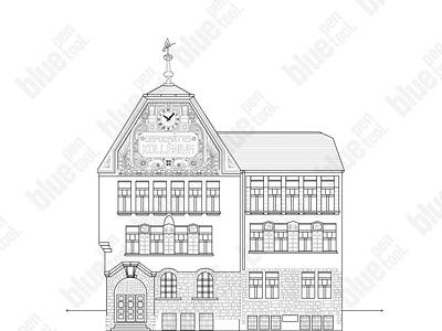 Transylvanian School line art design blueprint graphicdesign designs vector line lineart design school