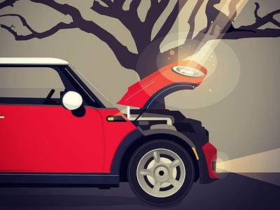 Red Mini Copper illustration vector bmw auto mini cooper redminicooper red mini