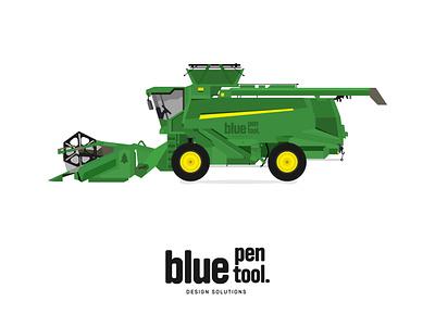 Combine harvester bluepentool vector illustration vectordesign vector green combine combine
