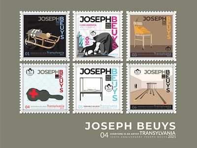 100 years of Beuys : art for everyone, and everyone is an artist vector artist vector art 100 anniversary stamp america german modern logo art art for everyone avantgarde