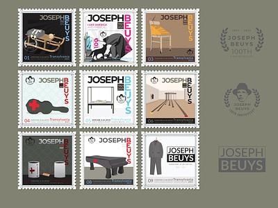 100 years of Beuys : art for everyone, and everyone is an artist america artist german logo modern logo avangartde art for eweryone 100 annywersary stamp vectorartist vector art beuys