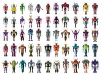 Robot figures whit full body
