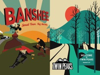 Banshee Twin peaks serial vector poster