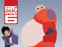 Big hero 6 vector poster