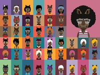 Collection of rhino avatars