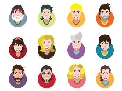Funny cartoon avatars