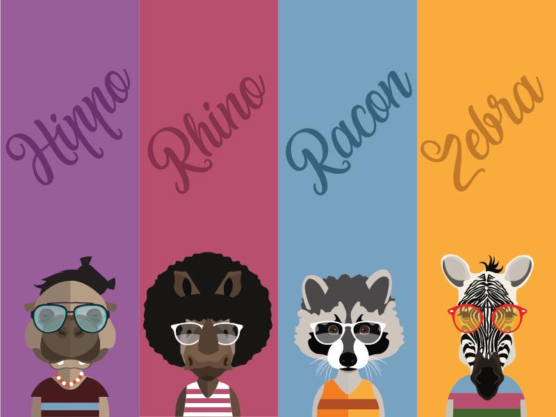 Racon hippo rhino zebra 01