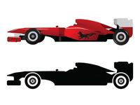 Formula1 Red Car Design