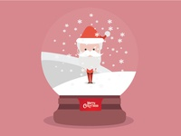 Snow globe With Santa