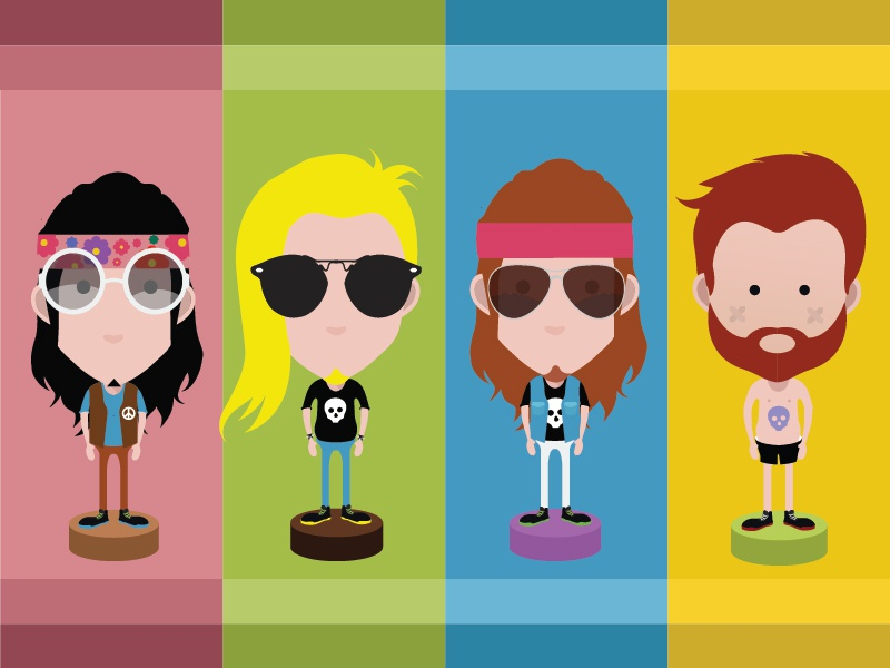 Rocker avatars 01