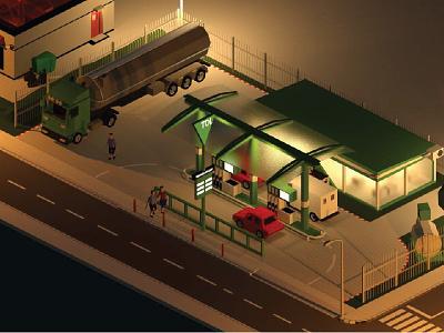 Gas station in little town tank petrol automobile transport service petroleum gasoline industry fuel oil