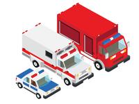 Fire Truck Ambulance Truck Police Truck