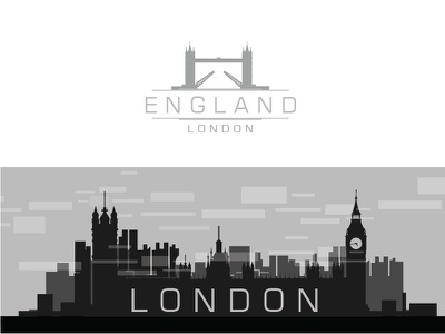 London,Paris Logo With city scape,silhouette monochrome uk london landmark ben capital travel exterior famous parliament sunset city cityscape