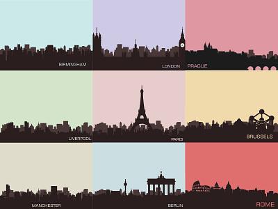 European City Skylines skylines city european