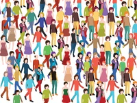 Isometric 3d People on white background