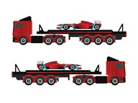 Cargo truck with f1 car