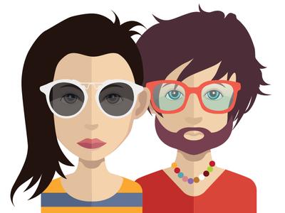 Avatars with glasses
