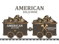 Gold mining trolley,mining cart gold wagon