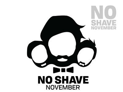 No shawe november logo design face avatar vector no shave november november