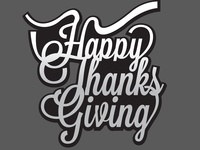Happy thanksgiving calligraphy vector design