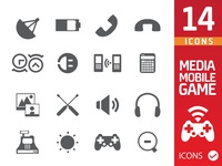 Media,mobile,game icons
