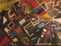 Social media, oil paint ,carton
