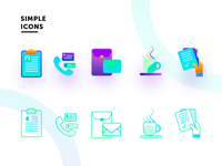 simple icons from latest project