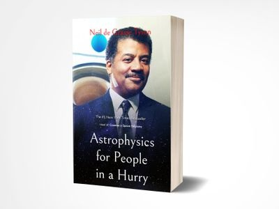 Astropyshics For People In A Hurry Book Cover neil de grasse tyson design cover design ui book cover book