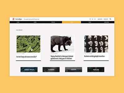 Evrim Ağacı Home Page Concept (Light) user inteface concept design ui