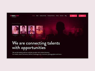 talent2celeb - UI Concept user inteface concept design ui